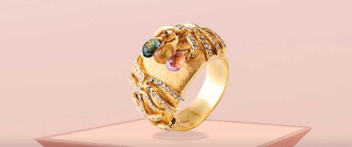 rosa rio (anel com pedras coloridas)